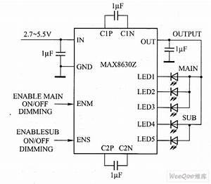 Max8630y    Max8630z White Led Driver Circuit Diagram