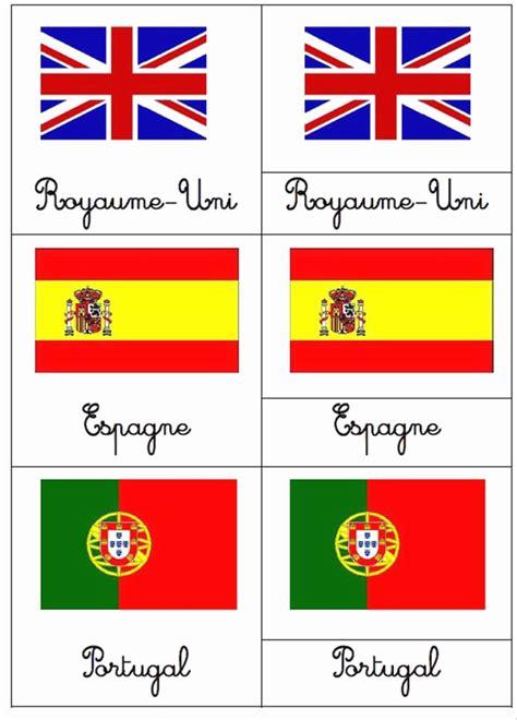 drapeaux du monde  imprimer