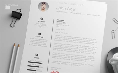 free resume design template with cover letter in psd ai
