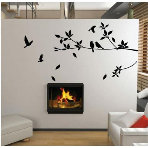 home interior pictures wall decor promotion birds and tree home decor floral wall stickers wall decals 80 x 60 cm