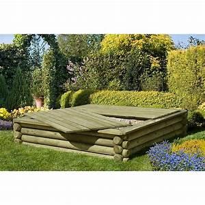 Sandkasten Kunststoff Xxl : sandkasten holz 180x180 cm premium qualit t aus palisaden mit deckel ~ Orissabook.com Haus und Dekorationen