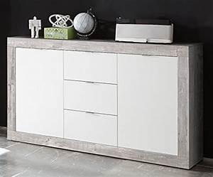 Sideboard Weiß Grau : sideboard betonoptik grau weiss matt m bel24 ~ Orissabook.com Haus und Dekorationen