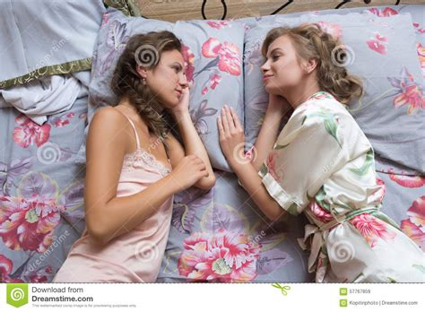 Blond Sisters Or Girl Friends Having Fun Stock Photo Image
