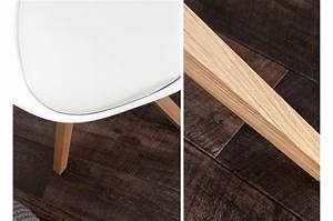 Chaise Blanche Scandinave : chaise blanche et bois scandinave pas cher pour chaises ~ Teatrodelosmanantiales.com Idées de Décoration