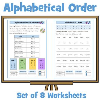 alphabetical order worksheets     letter