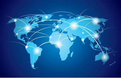 Global Map Network Vector Graphics Clipart System