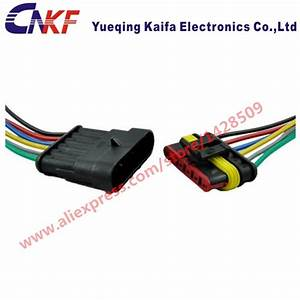 Tyco  Amp 6 Pin Wiring Harness Kit Waterproof Automotive Wiring Connectors Car Wiring Harness