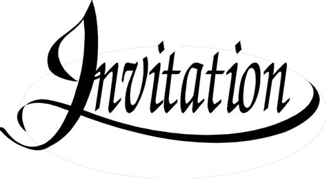invitation clipart black  white invitation black