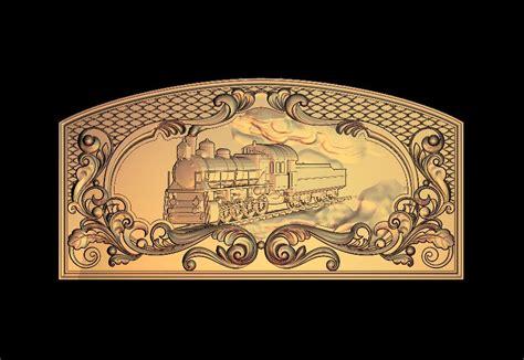 train  relief model  stl format cnc router carving engraving artcam aspire