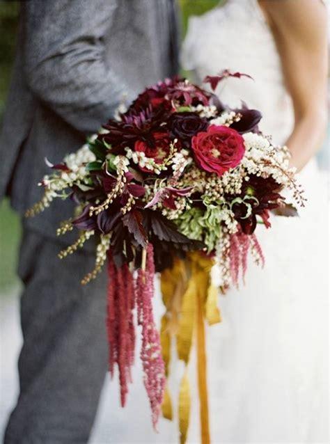 rustic autumn wedding bouquets  fall