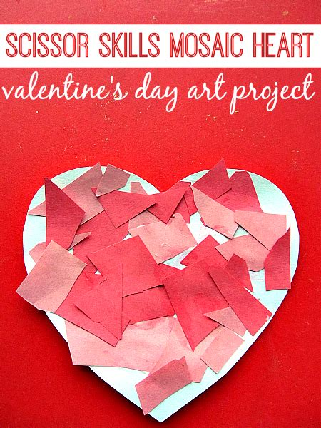 valentines day cards preschool mosaic s day craft for no time 334