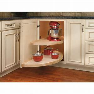 shop rev a shelf 2 tier wood half moon cabinet lazy susan With kitchen cabinets lowes with full moon wall art