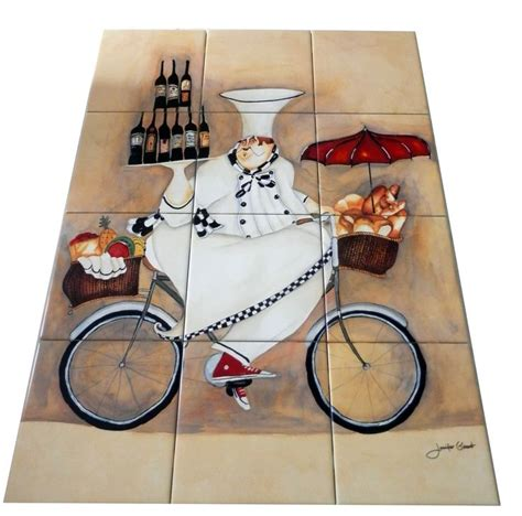 images of kitchen backsplash designs 25 best images about chef on ceramic tiles murals on 7489