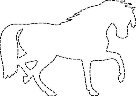 ausschneiden pferde  ausmalbilder malvorlagen