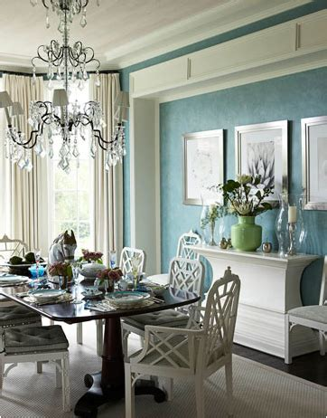 Blue And Green Dining Room  Home Decorating Ideas
