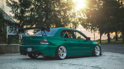 Green Mitsubishi by Green Mitsubishi Lancer Evolution Ix Wallpapers And