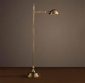 Franklin pharmacy task floor lamp antique from restoration for Restoration hardware floor lamp glass