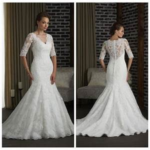 2016 new hot sale berta wedding dresses half sleeve lace With tznius wedding gowns online