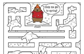 kindergarten groundhog day  worksheets edhelpercom