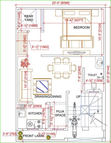 20X30 house map Contact imaginationshap For your Best