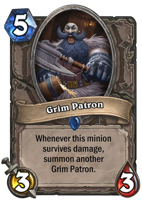 Basic Warrior Deck Hearthpwn by Grim Patron Png