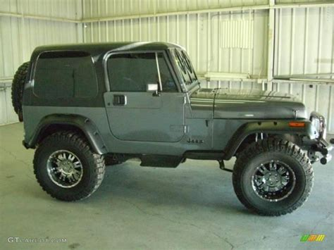 jeep grey 1990 charcoal gray metallic jeep wrangler laredo 4x4