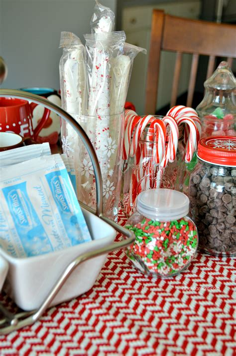 Simple Hot Chocolate Bar and Christmas Dessert Party Ideas   About A Mom