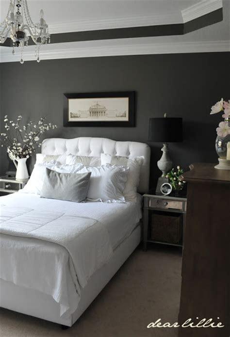 Gray And White Room Decor - dear lillie master bedroom combination black