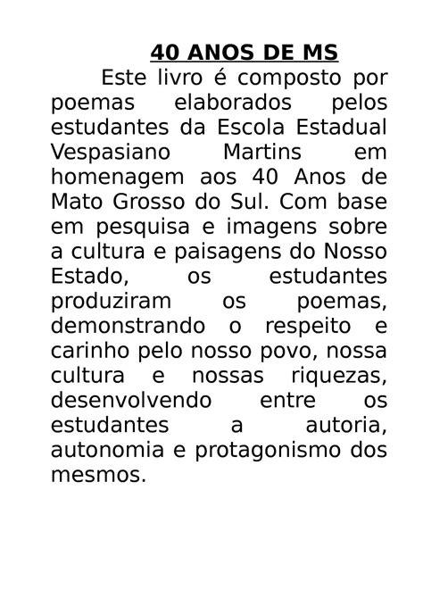 Calaméo - POEMAS - MS 40 ANOS