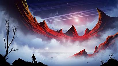 Sci Fi Fantasy Landscape Mountains Planets Wallpapers