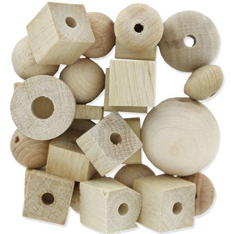 assortiment de grosses perles en bois naturel x100g preciosa perles co