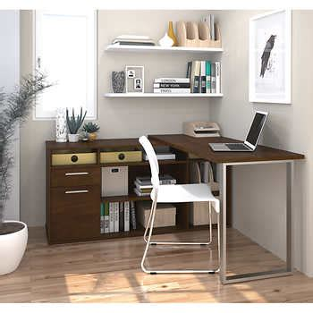 costco desk l with fan solay l shaped desk