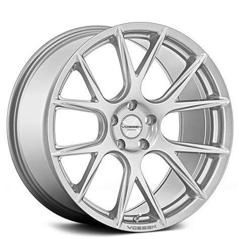 staggered vossen wheels vfs silver metallic rims vss