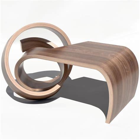 mini  knot table walnut veneer   bend wood