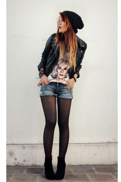 Black F21 Jackets Black VJ Style Wedges   u0026quot;Lady Warhol Teeu0026quot; by lehappy   Chictopia