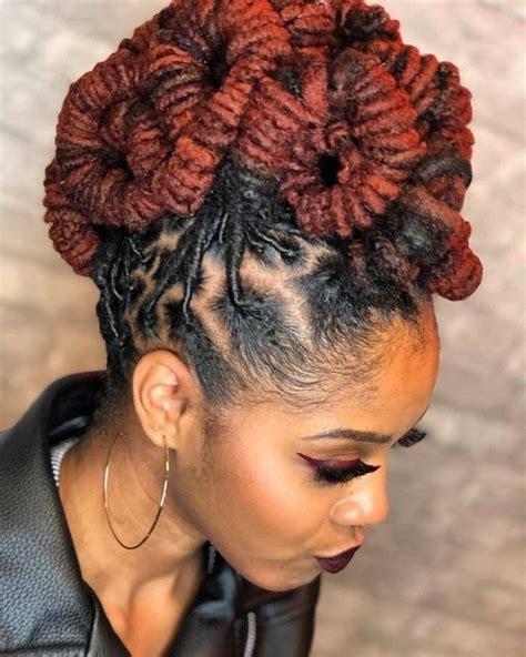 locs updo natural hair styles hair styles dreadlock styles