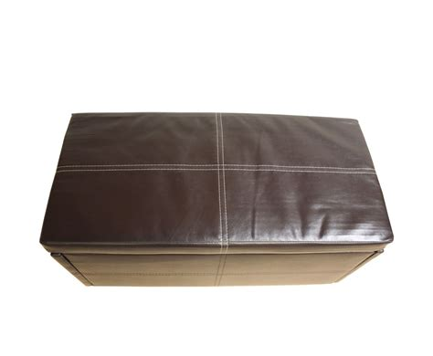 small faux leather ottoman toni small brown faux leather ottoman special offer