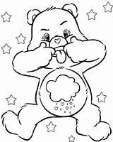 Coloring Bear Cartoon Grumpy Teddy Bears Care Printable Disney sketch template