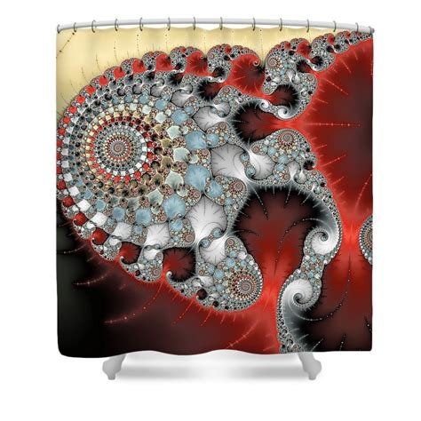 Light Grey Curtains Target by Wonderful Abstract Fractal Spirals Red Grey Yellow And