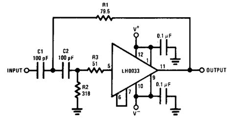 Simple Wide Band Pole High Pass Filter Electronic