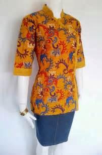 baju kerja batik blus modern model baju batik kantor blackhairstylecuts