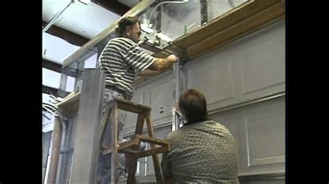 residential brace system demonstration garage door