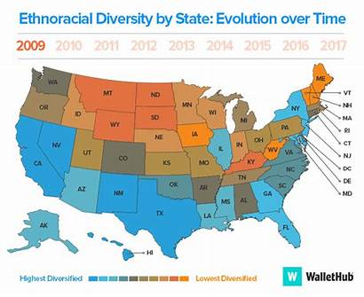 Rates State Uninsured Diverse States America Least
