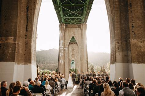 cathedral park wedding melissa ryan portland