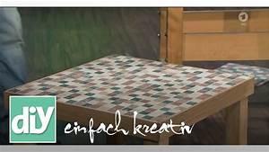 Mosaik Selber Fliesen Auf Altem Tisch : couchtisch mit mosaikfliesen in naturstein diy einfach kreativ youtube ~ Watch28wear.com Haus und Dekorationen