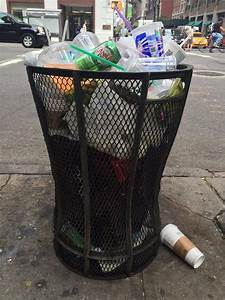 Breaking, News, Trash, Can, Outside, Our, Office, Is, Very, Full, From, Garbage