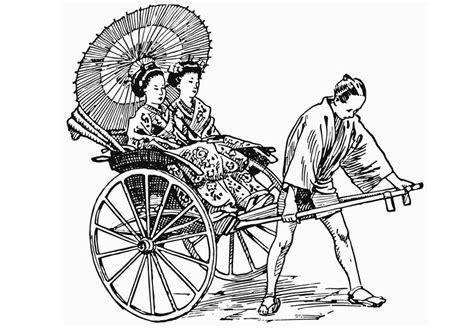 coloring page rickshaw img