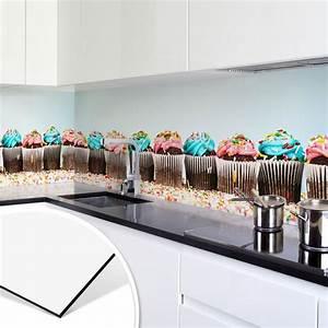 Fliesenspiegel Küche Verkleiden : k chenr ckwand alu dibond party cupcakes fliesenspiegel verkleiden spritzschutz ~ Orissabook.com Haus und Dekorationen