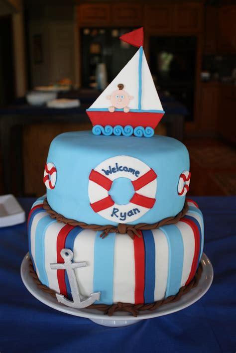 nautical baby shower cake cakecentralcom