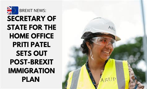 Secretary of State for the Home Office, Priti Patel sets ...